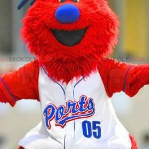 Velký červený a modrý muž maskot - Redbrokoly.com