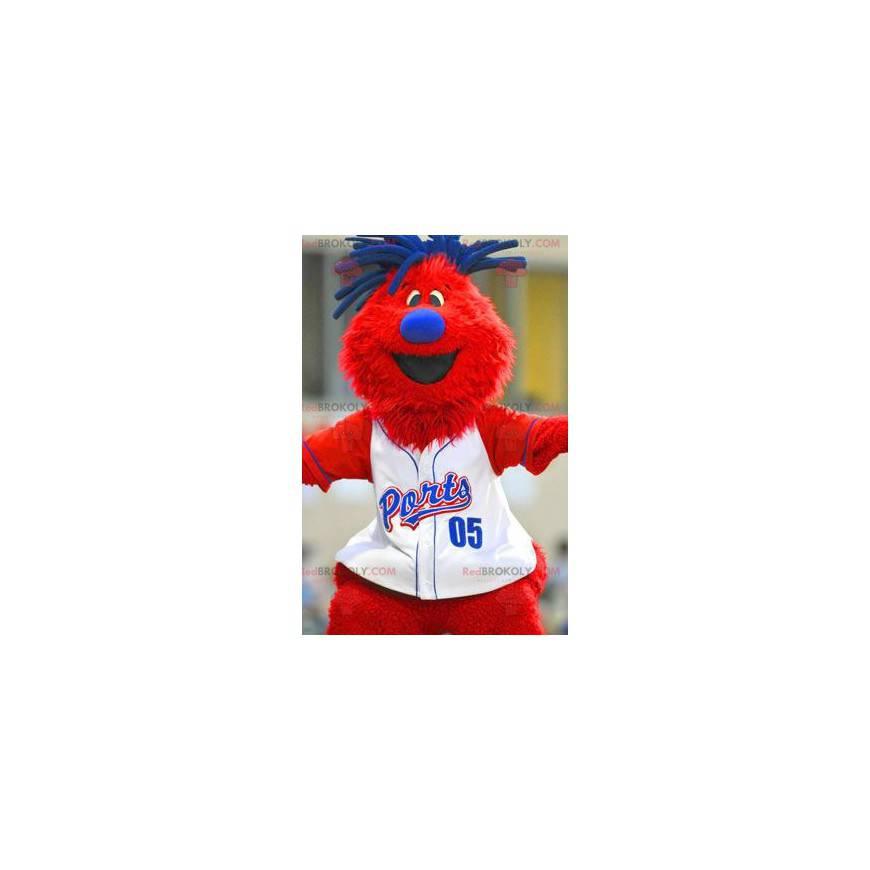 Big red and blue man mascot - Redbrokoly.com