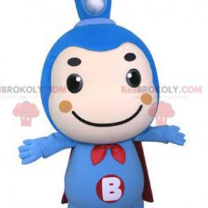 Blå tannbørste maskot med kappe - Redbrokoly.com