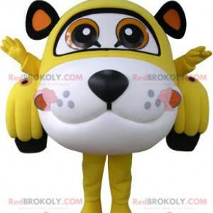Automaskottchen geformt wie ein Tiger gelb weiß und schwarz -
