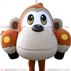 Maskot auta ve tvaru oranžové a béžové opice - Redbrokoly.com