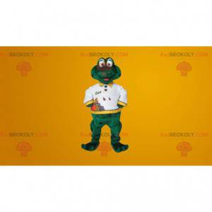 Cute smiling green frog mascot - Redbrokoly.com