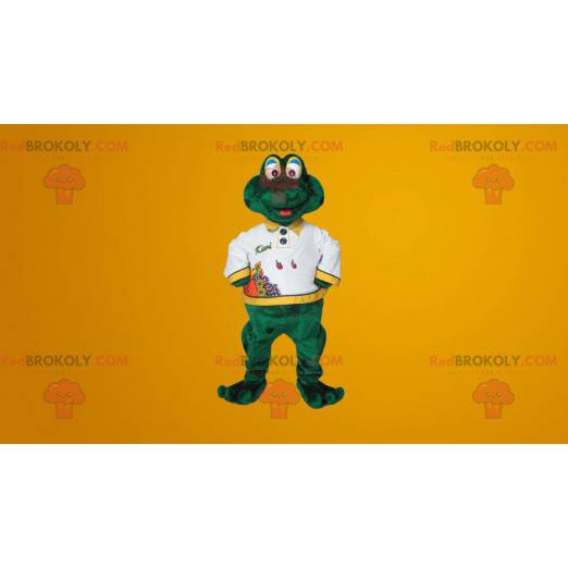 Nettes lächelndes grünes Froschmaskottchen - Redbrokoly.com
