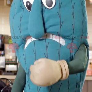 Punching bag giant blue cactus mascot - Redbrokoly.com