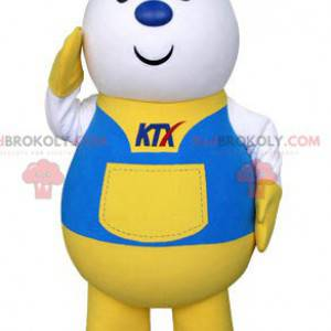 Courier delivery postman mascot dressed in uniform -