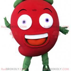 Gigantisk rød og grønn jordbærmaskot - Redbrokoly.com