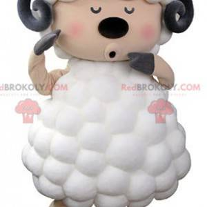 Zwart en roze witte geit schapen mascotte - Redbrokoly.com