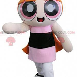 Supers Nanas maskotka ruda dziewczyna superbohatera -