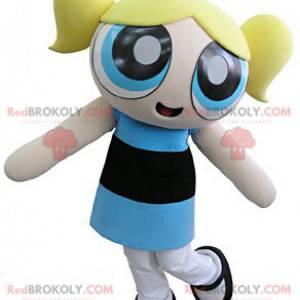Super Nanas mascot blonde girl superhero - Redbrokoly.com