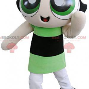Supers Nanas mascot brunette girl superhero - Redbrokoly.com