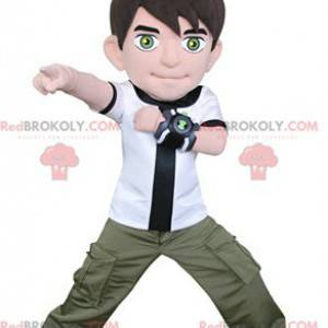 Maskot charakter chlapce videohry - Redbrokoly.com