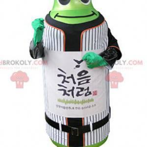 Maskotka zielona butelka w odzieży sportowej - Redbrokoly.com