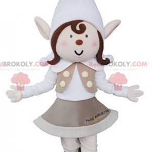 Skřítek maskot s špičatými ušima a čepicí - Redbrokoly.com