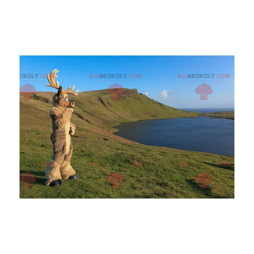 Brown caribou reindeer elk mascot - Redbrokoly.com