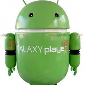 Grøn robot maskot. Android maskot - Redbrokoly.com