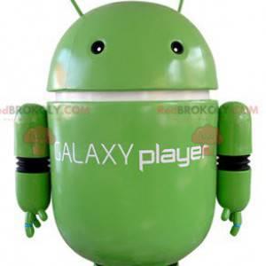 Zelený robot maskot. Maskot Androidu - Redbrokoly.com