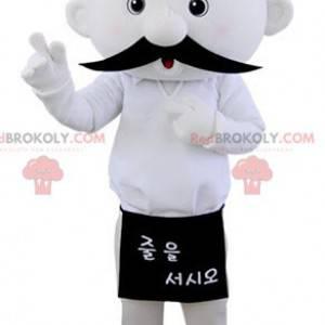 Maskot bílý sněhulák knír - Redbrokoly.com