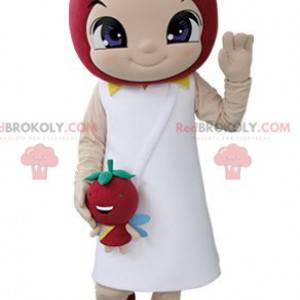 Mała dziewczynka maskotka z truskawką na głowie - Redbrokoly.com