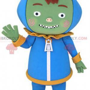 Maskot mimozemské mimozemské zelené monstrum - Redbrokoly.com