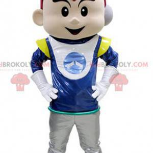 Boy mascot in astronaut outfit - Redbrokoly.com
