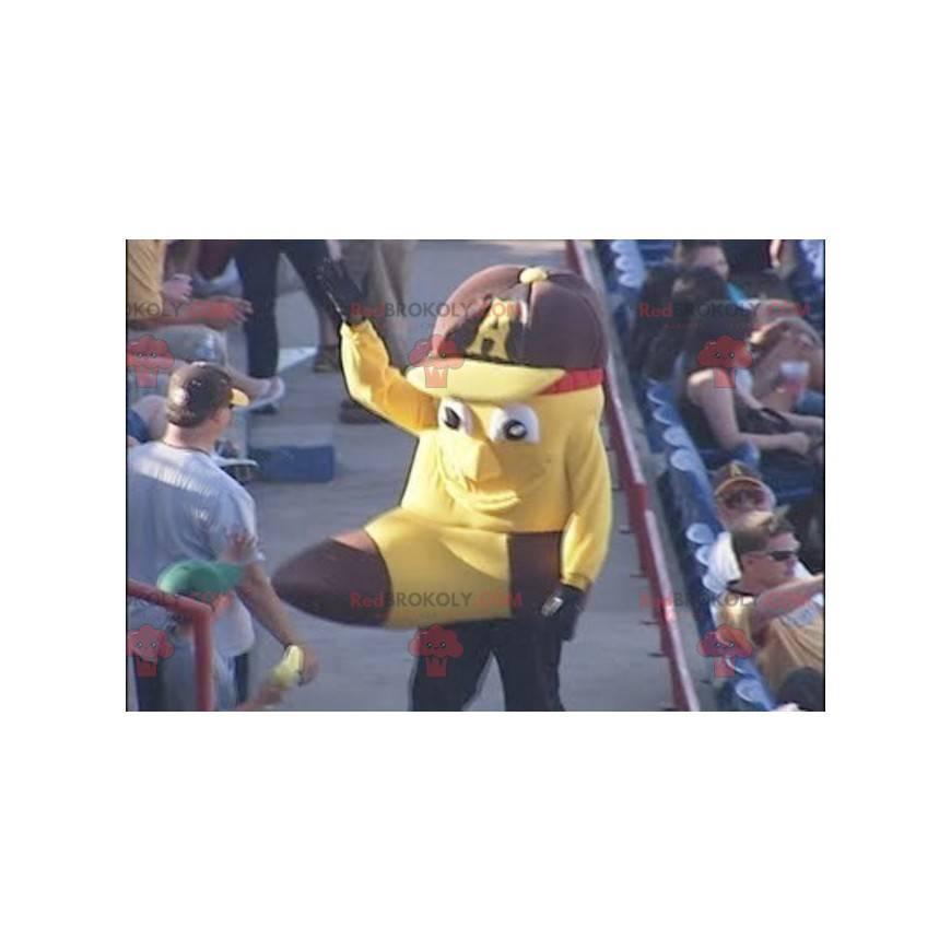 Maskottchen in Form einer riesigen Banane - Redbrokoly.com