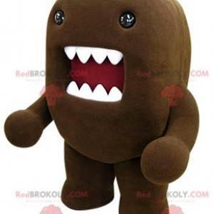 Domo Kun Maskottchen braunes Monster mit einem großen Mund -