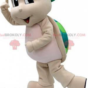 Maskot béžová a zelená želva. Želví kostým - Redbrokoly.com