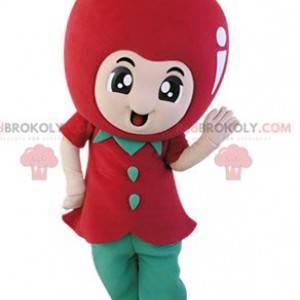 Obří červené jablko maskot. Maskot ovoce - Redbrokoly.com