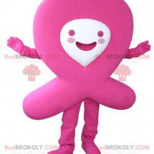 Pink ribbon mascot. AIDS red ribbon - Redbrokoly.com