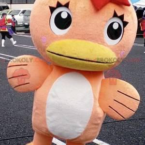 Oranžový a bílý kachní maskot - Redbrokoly.com