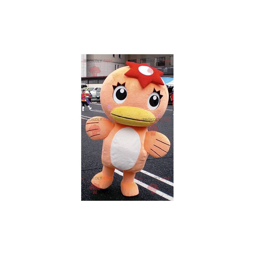 Orange and white duck mascot - Redbrokoly.com