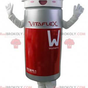 Šedý a červený tablet box maskot - Redbrokoly.com