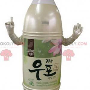 Maskot žluté a růžové béžové plastové láhve - Redbrokoly.com