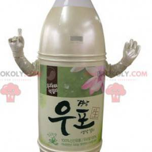 Yellow and pink beige plastic bottle mascot - Redbrokoly.com