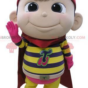 Børnemaskot klædt som en superhelt - Redbrokoly.com