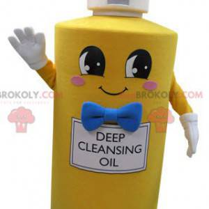 Maskot žlutá láhev mýdla. Mýdlo maskot - Redbrokoly.com