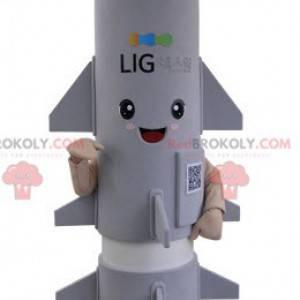 Giant gray rocket missile mascot - Redbrokoly.com