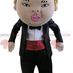 Asian man mascot looking nasty - Redbrokoly.com