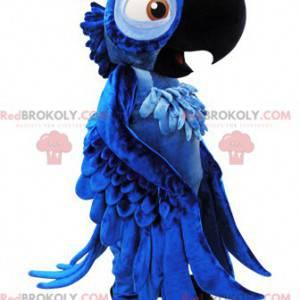 Blu slavný modrý papoušek maskot z karikatury Rio -