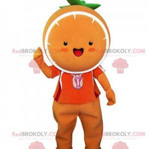 Gigantyczna pomarańczowa maskotka. Maskotka mandarynka -