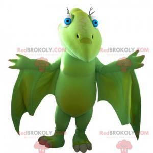 Působivý zelený létající maskot dinosaura - Redbrokoly.com