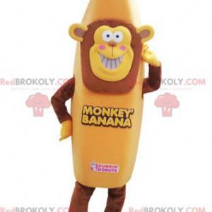Maskotka małpa w przebraniu banana. Maskotka banana -