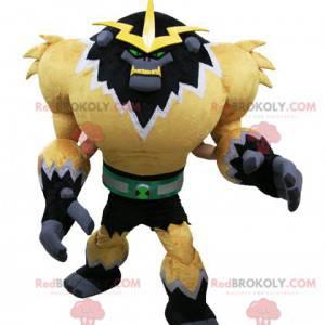 Mascote do monstro do videogame. Mascote gorila futurista -