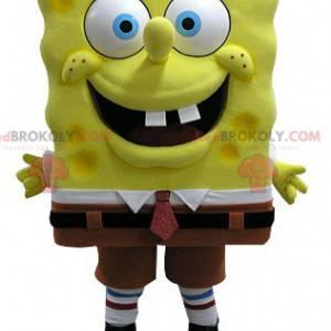 Mascot Bob Esponja personaje de dibujos animados famoso -