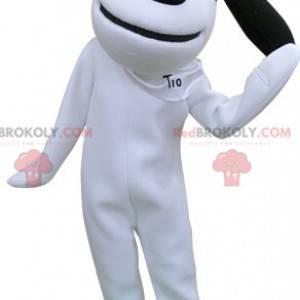 Maskot bílý a černý pes. Snoopy maskot - Redbrokoly.com