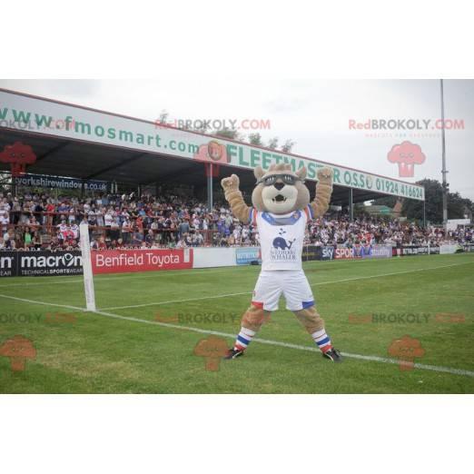 Brown bear mascot in sportswear - Redbrokoly.com