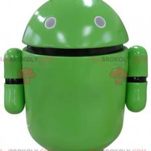 Grünes Robotermaskottchen. Android Maskottchen - Redbrokoly.com