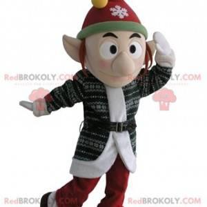 Koboldmaskottchen mit Mütze und spitzen Ohren - Redbrokoly.com
