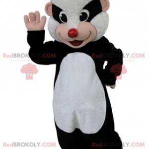Schwarz-Weiß-Iltis-Maskottchen. Waschbärenmaskottchen -