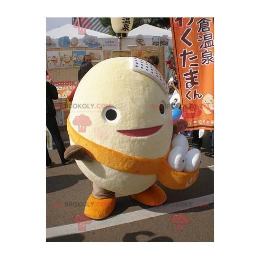 Obří maskot vajec s váčkem naplněným vejci - Redbrokoly.com